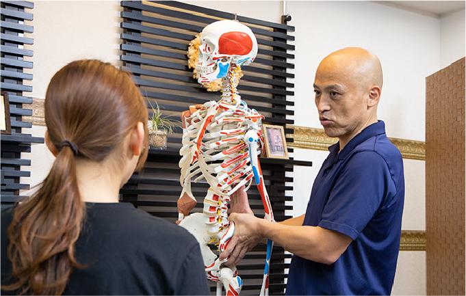 解剖学、運動学に基づいた施術